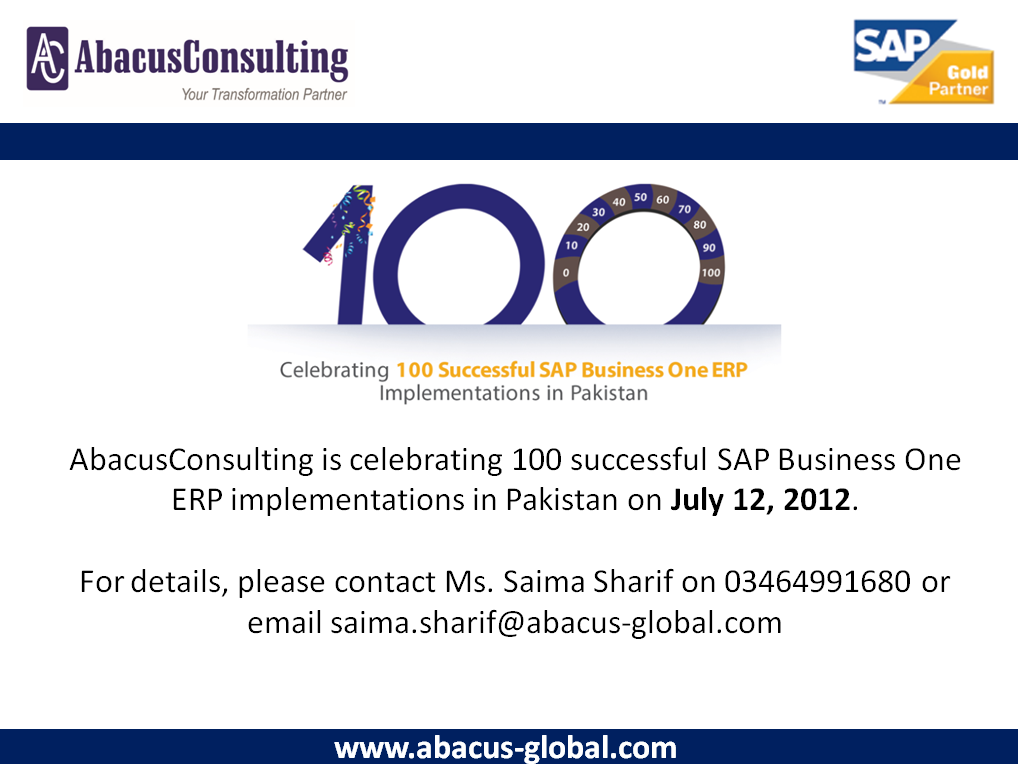 100 Successful SAP Business One ERP - AbacusConsulting