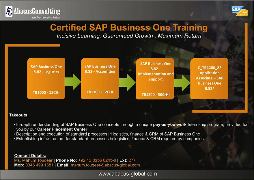 AbacusConsulting - SAP Business One Training